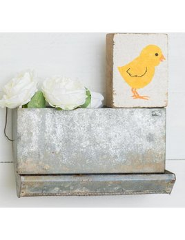 White Tumbling Block, Yellow Chick