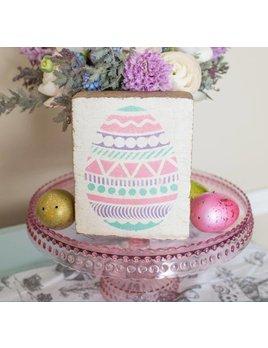 White Tumbling Block, Easter Egg