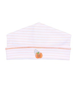 Hat Peek-a-Boo Orange Embroidered Hat