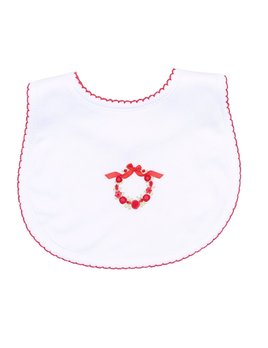 Bib Noelle's Classics Red Embroidered Bib