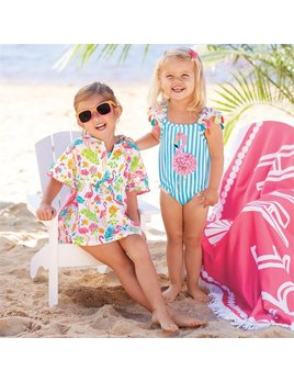 Mini Flamingo Ruffle Cover-Up