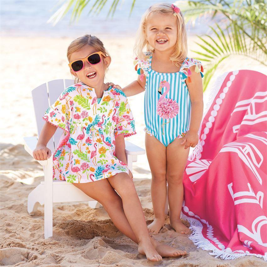 Mini Flamingo Ruffle Cover-Up