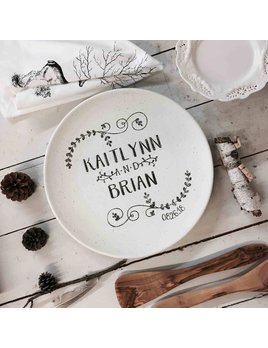 Platter Name Wedding Coupe