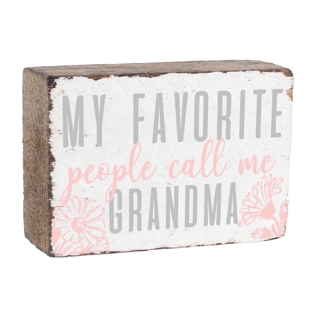 Call Me Grandma XL Block