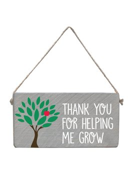 Sign Helping Me Grow - Mini Plank