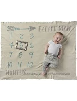 Blanket Little Man Milestone Blanket
