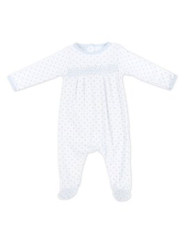 Gingham Dots Smocked Footie