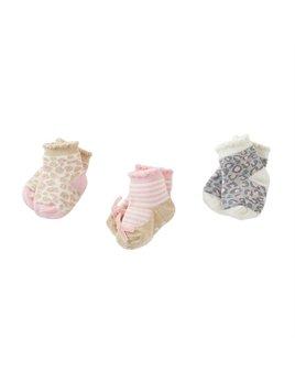 Leopard Print Newborn Sock Set