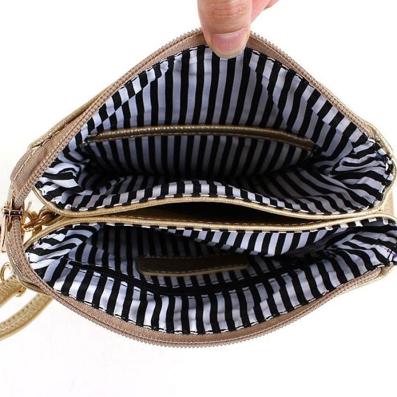 Monogrammed Crossbody Bag with Tassel