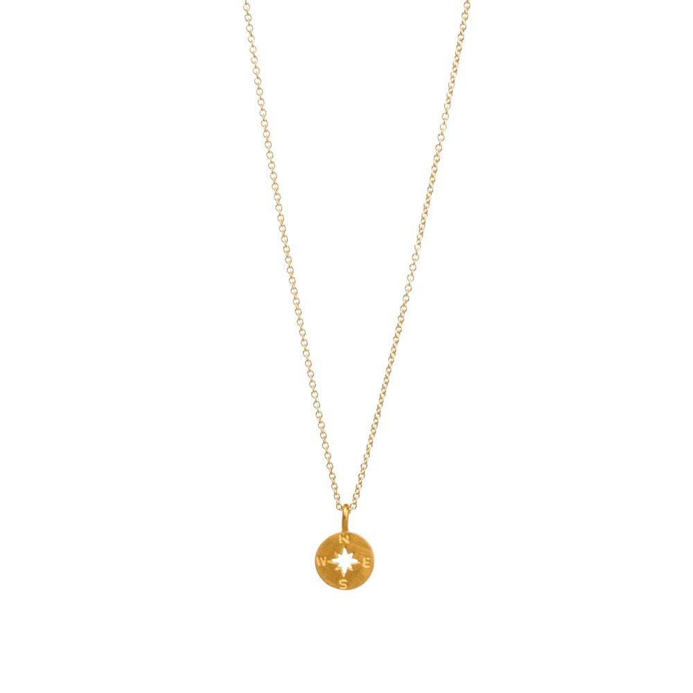 Necklace Going Places Compass Disc Necklace