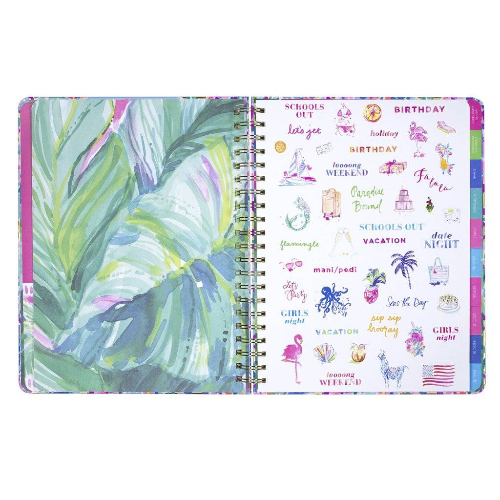 Lilly Pulitzer Jumbo 17 Month Agenda, Catch the Wave