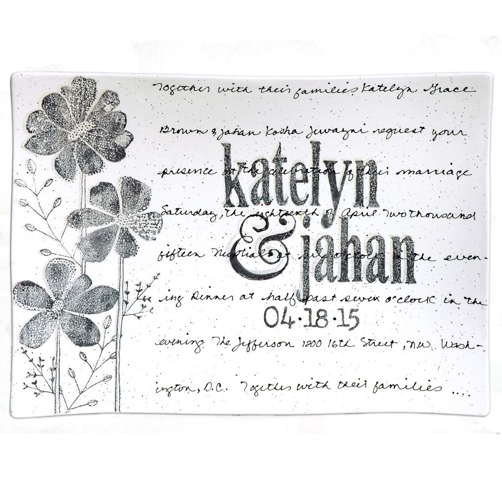 Platter Wedding Invitation Flare Platter