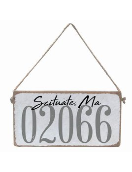 Sign Personalized Town Code - Mini Plank
