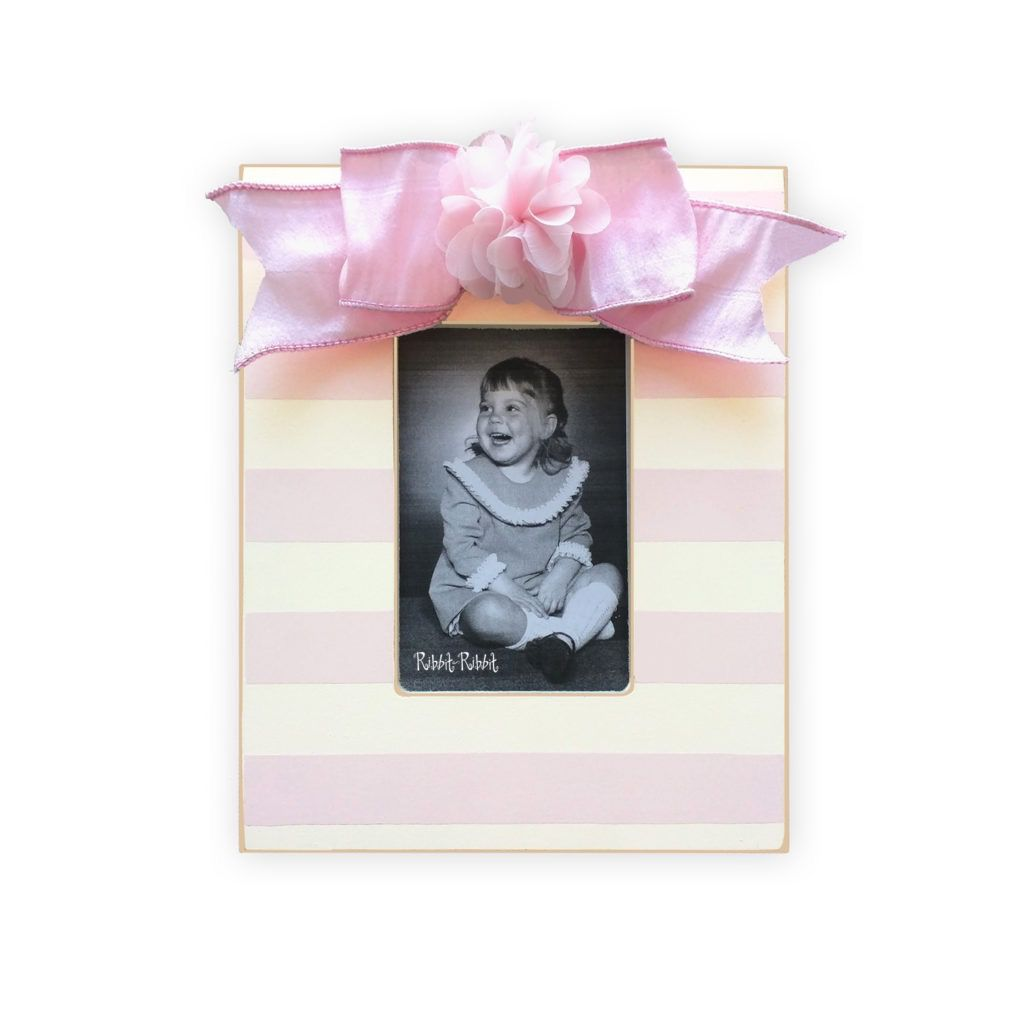 Frame Flower Stripe Frame - Rose