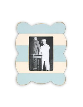 Frame Stripe Scallop Frame - Sky Blue