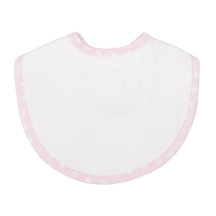 Bib Personalized Pastel Pink Dot Medium Bib
