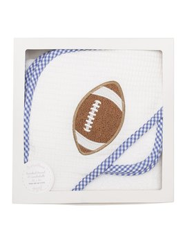 Towel Blue Football Hooded Towel & Washcloth Set