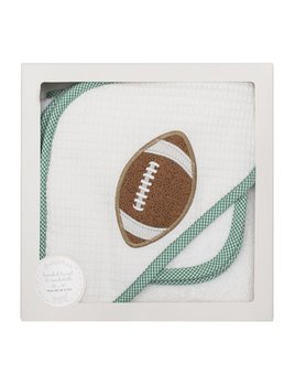 Towel Green Football Hooded Towel & Washcloth Set