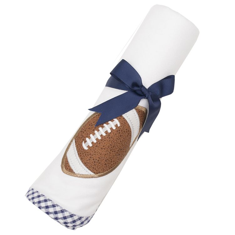 Blanket Navy Football Swaddle Blanket