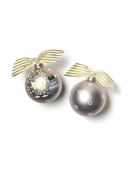 Happy Anniversary Glass Ornament