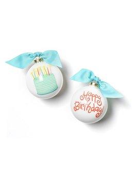 Happy Birthday Glass Ornament