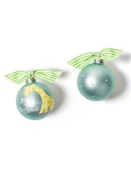 Ornament Giraffe Glass Ornament - Blue