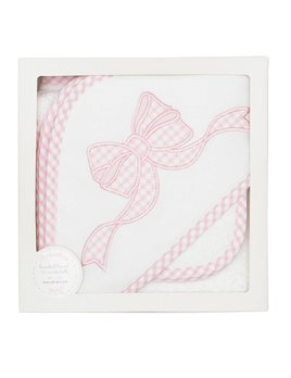 Towel Pink Bow Hooded Towel & Washcloth Set