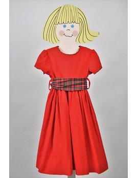 Dress Red Waistline Dress