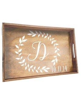 Tray Personalized Wedding Laurels Tray