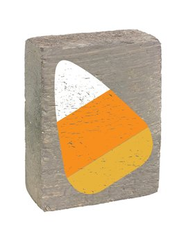 Grey Wash Tumbling Block, Candy Corn