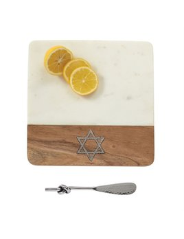 Board Star of David Marble Board Set
