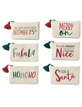 Pouch Christmas Sentiment Canvas Pouch
