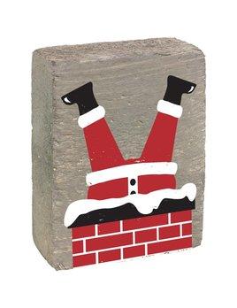 Grey Wash Tumbling Block, Santa's Falling