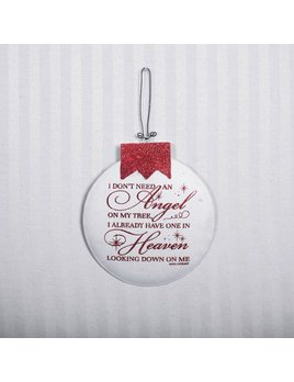 Ornament Angel - Red & White Metal Ornament