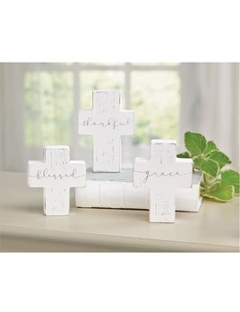 Decoration Small Wooden Cross Sitter