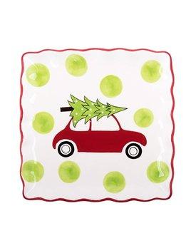Platter Holiday Car Square Platter