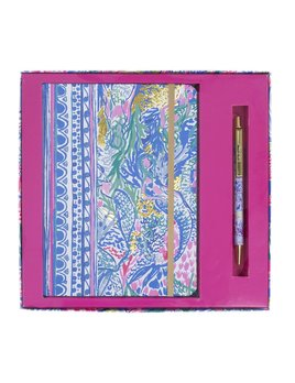 JOURNAL Lilly Pulitzer Journal With Pen, Mermaids Cove