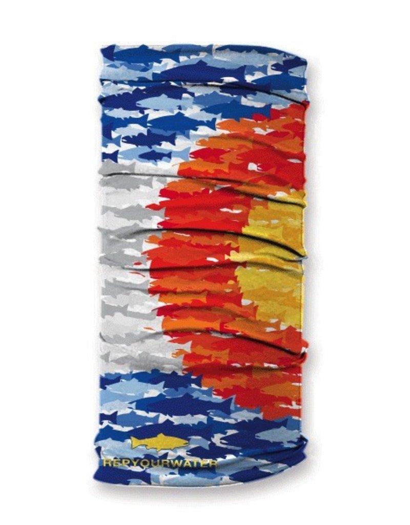 Rep Your Water Colorado Fish Mosaic Sun Shield