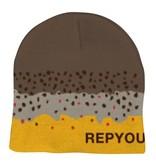 Rep Your Water Brown Trout Skin Skull Cap