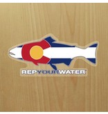 Rep Your Water Colorado Flag Sticker