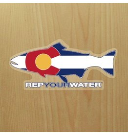 Rep Your Water Colorado Flag Sticker