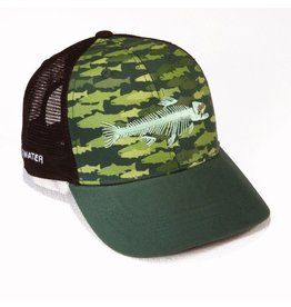 Rep Your Water Trout Camo Trucker