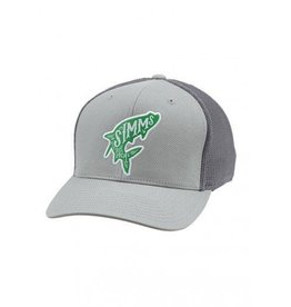 Simms Flexfit Trucker Woodblock Tarpon Pebble