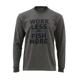 SIMMS Work Less Fish More LS Tee
