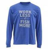 SIMMS Work Less Fish More LS Tee