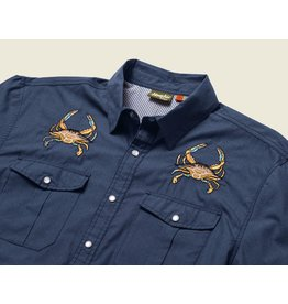 Howler Gaucho Snapshirt Midnight Blue Crab