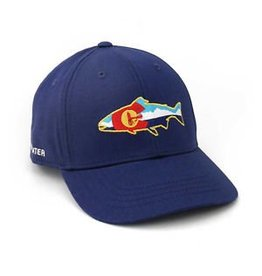Rep Your Water Colorado Fly and Mountains Hat Navy Full Cloth