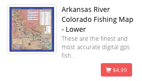 Lower Arkansas River Map (Canon City to Salida)