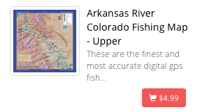 Upper Arkansas River Map (Salida to Leadville)