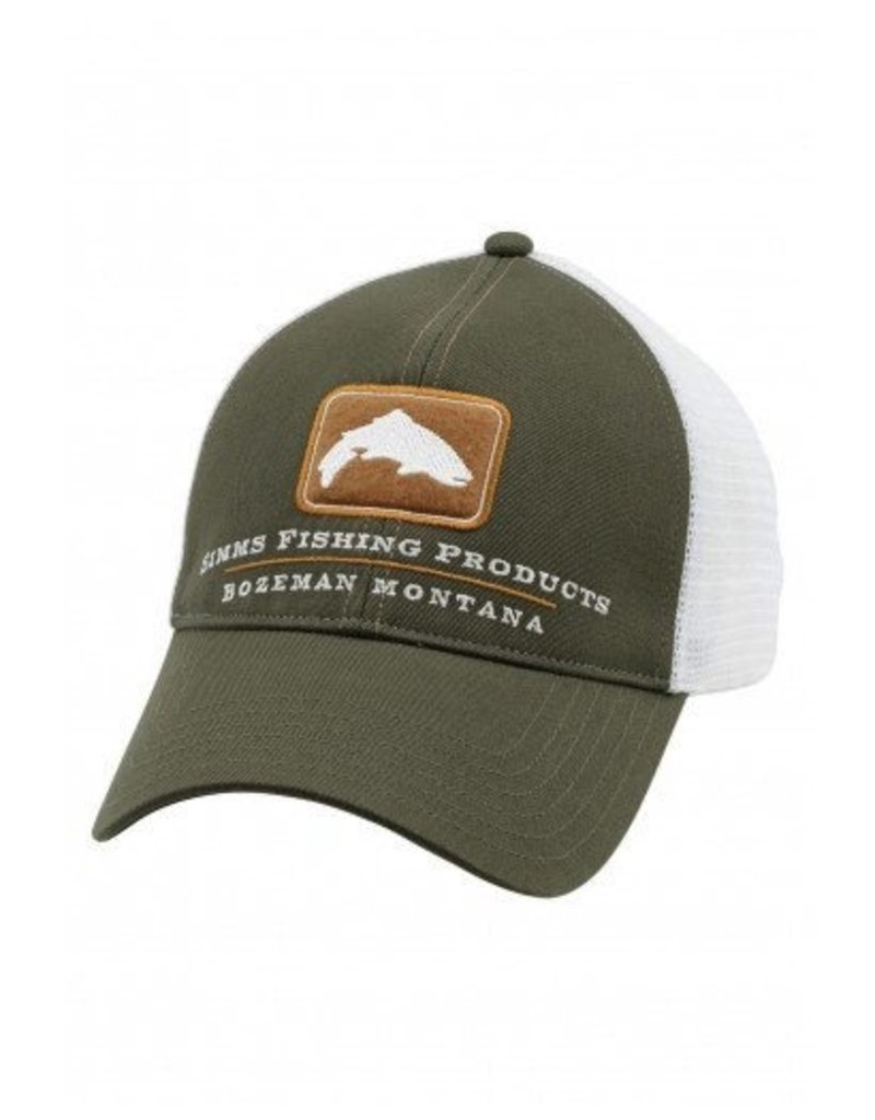 Simms Trout Trucker Hunter Green